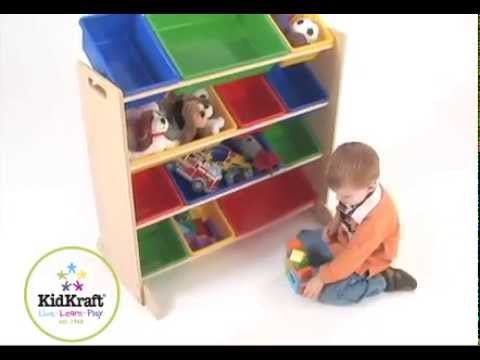 Childrenu0027s Wooden Toy Storage Unit With Bins Furniture For Boys And Girls KidKraft  sc 1 st  Storage Tips at 417 Self Storage & Childrenu0027s Wooden Toy Storage Unit With Bins Furniture For Boys And ...