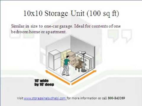 Different Types Of Storage Units In Abu Dhabi Sizes And